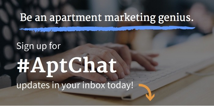 Sign up for #AptChat newsletter updates